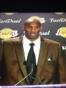 Kobe Bryant At 12/1/2015 Press conference After Sixers Game